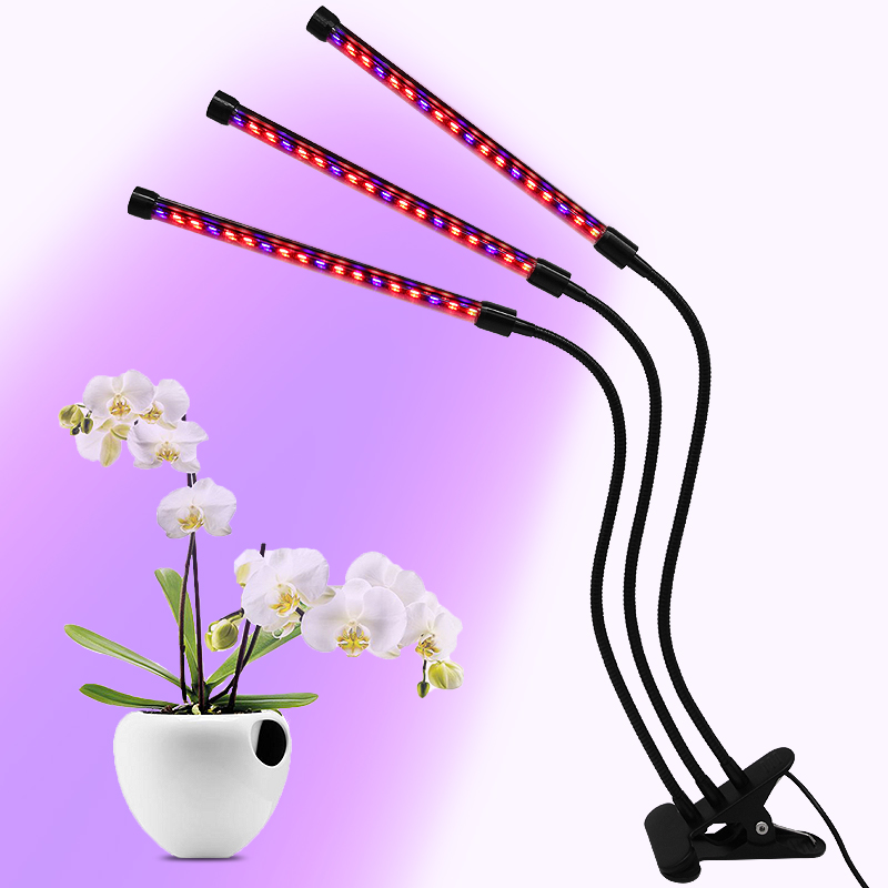 Timing Switch and Dimmable DC5V 27W 500lm Grow Light for Plant