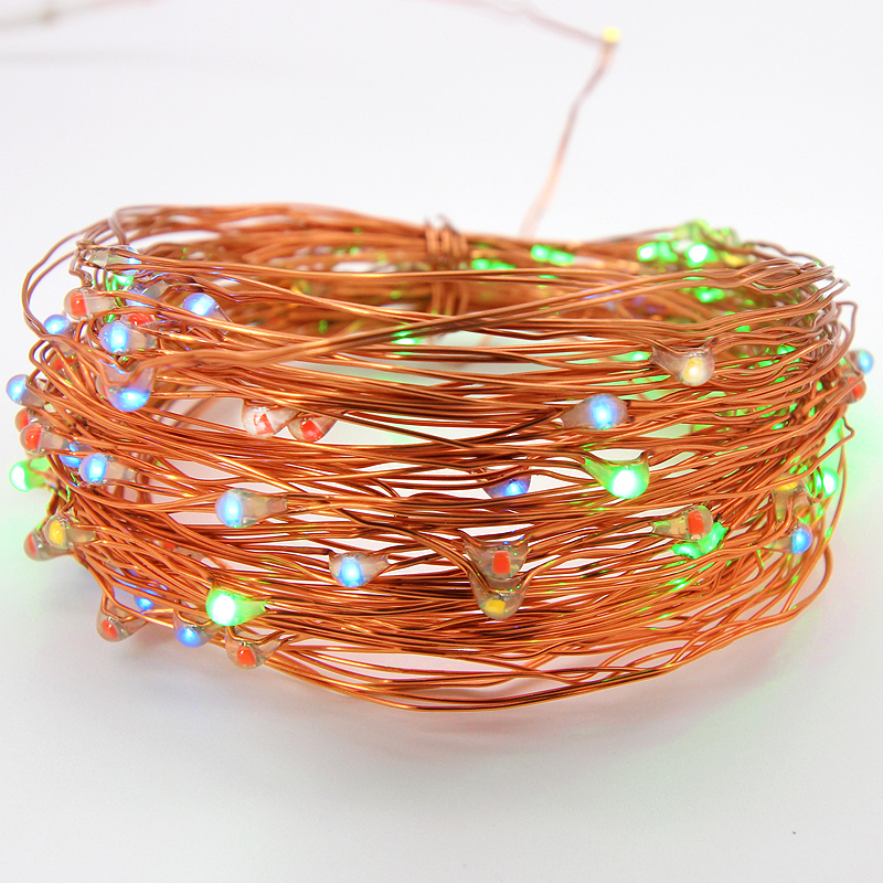 100 LED Battery Operated String Lights Christmas Deco Hanging Lighted Out Door